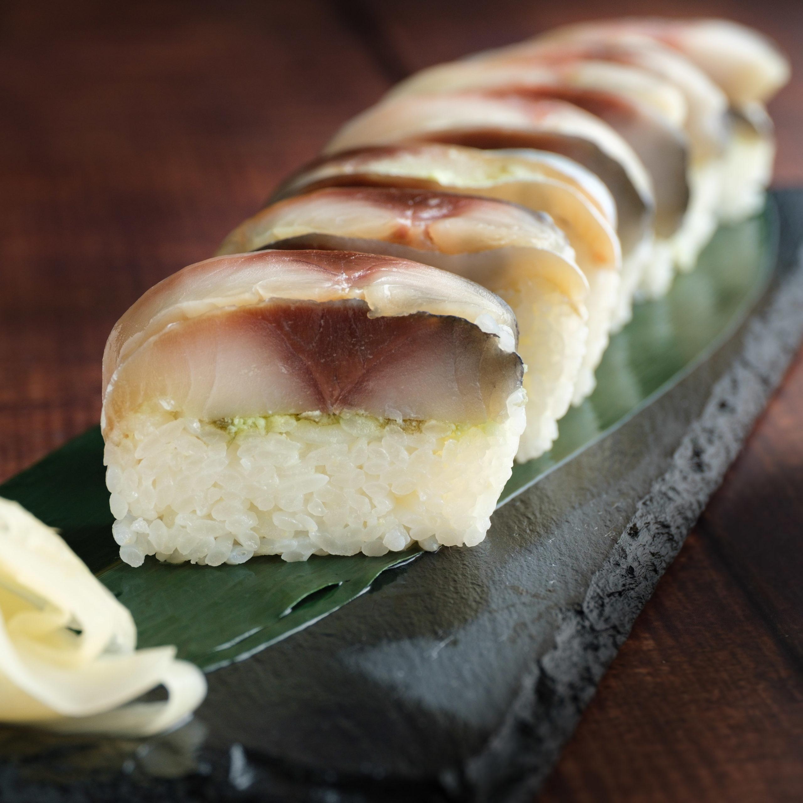 とろ鯖生ハム押し寿司